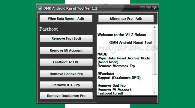 OMH Android Reset Tool v1 2 – ZIDON FREE SOFTWARE